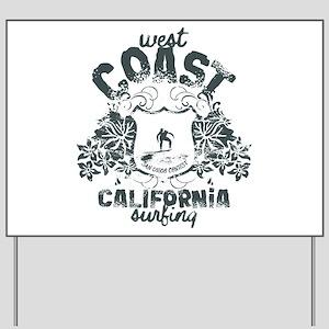 West Coast Surfing Yard Sign