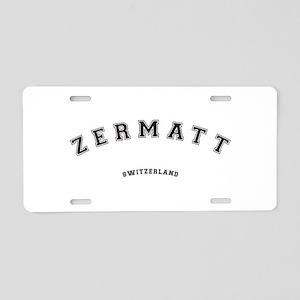 Zermatt Switzerland Aluminum License Plate