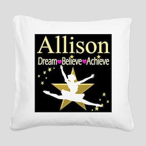 DANCER DREAMS Square Canvas Pillow