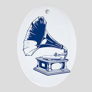 Gramophone Ornament (Oval)