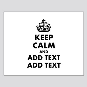 Personalized Keep Calm Small Poster
