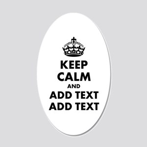 Personalized Keep Calm 20x12 Oval Wall Decal