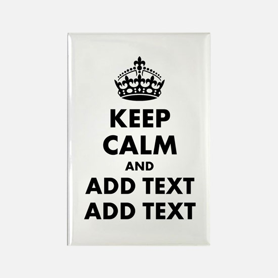 Personalized Keep Calm Rectangle Magnet