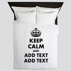 Personalized Keep Calm Queen Duvet