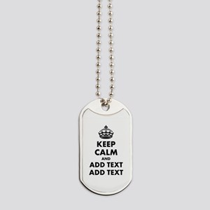 Personalized Keep Calm Dog Tags