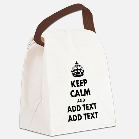 Personalized Keep Calm Canvas Lunch Bag