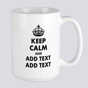 Personalized Keep Calm Large Mug