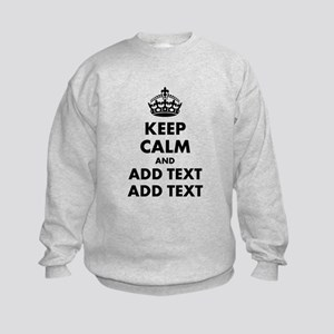 Personalized Keep Calm Kids Sweatshirt
