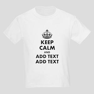 Personalized Keep Calm Kids Light T-Shirt