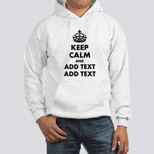 Personalized Keep Calm Hooded Sweatshirt