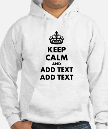 Personalized Keep Calm Hoodie