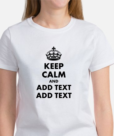 Personalized Keep Calm Women's T-Shirt