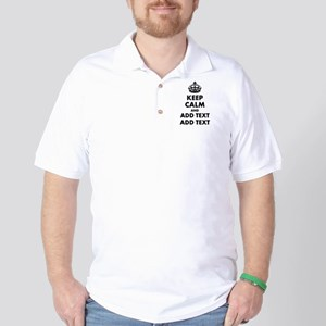 Personalized Keep Calm Golf Shirt