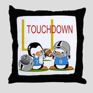 Tochdown football Throw Pillow