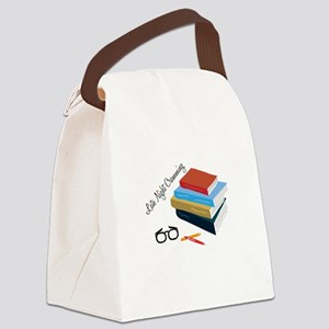 Night Cramming Canvas Lunch Bag