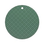 Living Waters Pattern Ornament (Round)