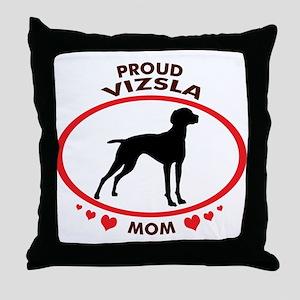 Proud Vizsla Mom Throw Pillow