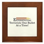 Exterminating Terrorists Framed Tile