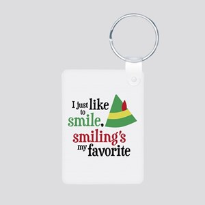 Smilings My Favorite Aluminum Photo Keychain