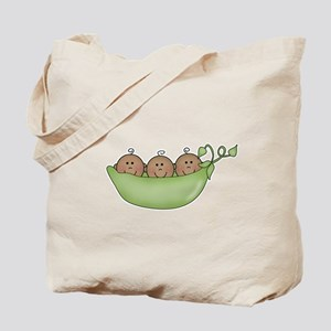 Three Peas in Pod (Ethnic) Tote Bag