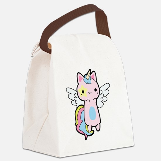 Cute Pink unicorn Canvas Lunch Bag