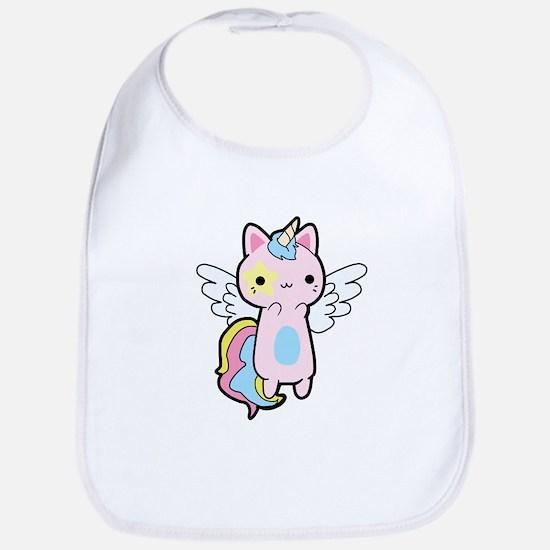 Cat Unicorn Fly Kawaii Baby Bib