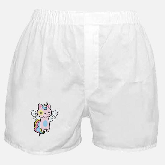 Cat Unicorn Fly Kawaii Boxer Shorts