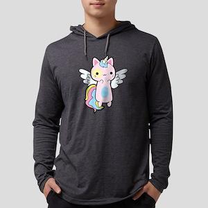 Cat Unicorn Fly Kawaii Long Sleeve T-Shirt