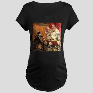 MAD HATTER TESTIFIES Maternity Dark T-Shirt