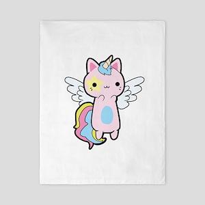 Cat Unicorn Fly Kawaii Twin Duvet Cover