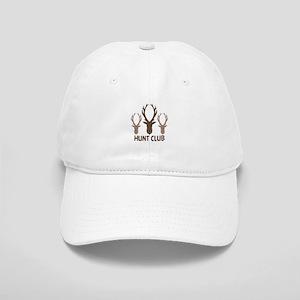 Deer Antler Head Silhouettes Hunt Club Baseball Ca