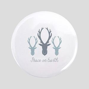 "Deer Antler Head Silhouettes Peace Earth 3.5"" Butt"