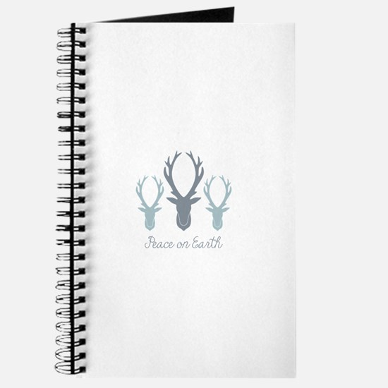 Deer Antler Head Silhouettes Peace Earth Journal