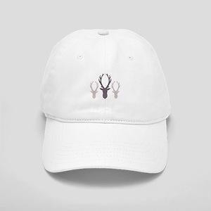 Deer Antler Head Silhouettes Baseball Cap