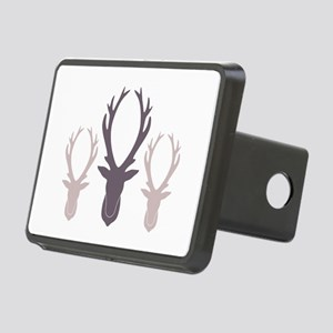 Deer Antler Head Silhouettes Hitch Cover