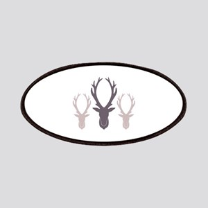 Deer Antler Head Silhouettes Patches