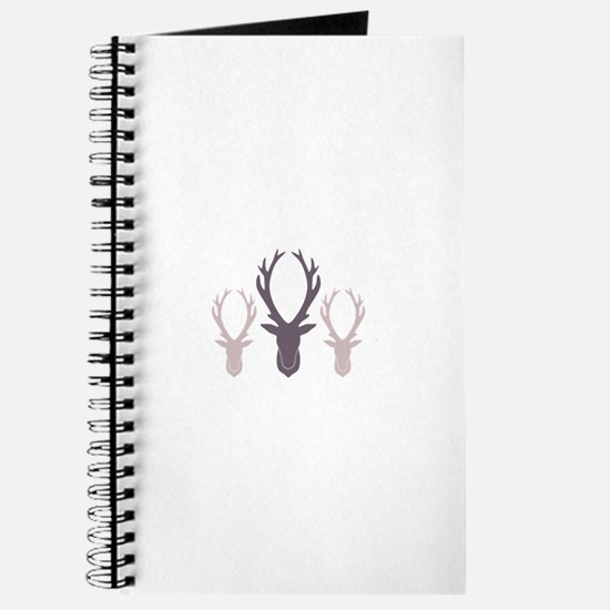Deer Antler Head Silhouettes Journal