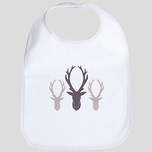 Deer Antler Head Silhouettes Bib