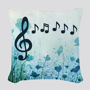 Musical Garden Woven Throw Pillow