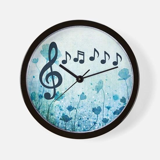 Musical Garden Wall Clock