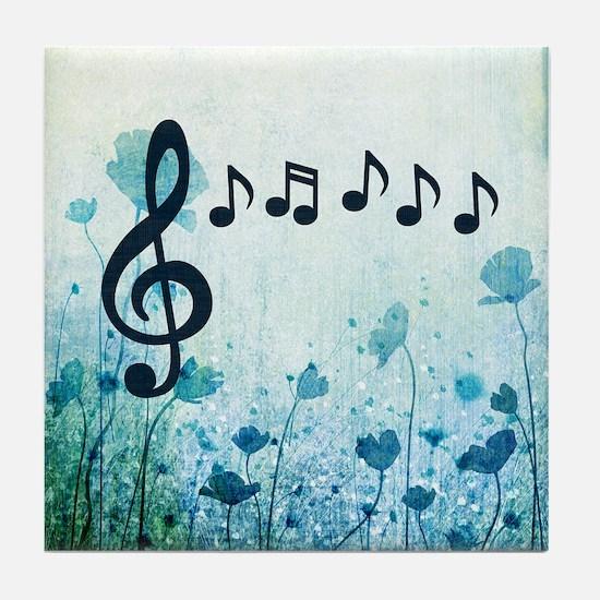 Musical Garden Tile Coaster