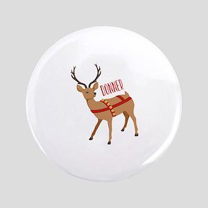 "Reindeer Christmas Donner 3.5"" Button"