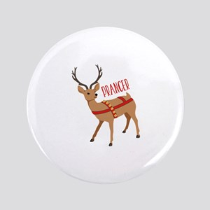 "Reindeer Christmas Prancer 3.5"" Button"