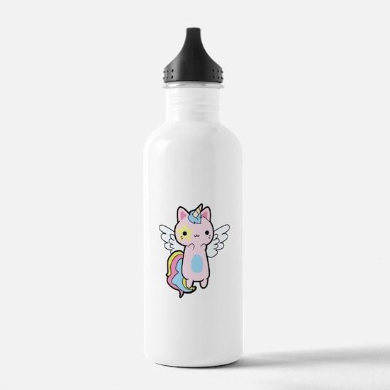 Cat Unicorn Fly Kawaii Water Bottle