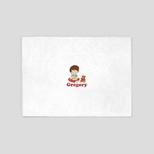 Personalized Christmas Boy 5'x7'Area Rug