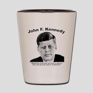 JFK War Shot Glass