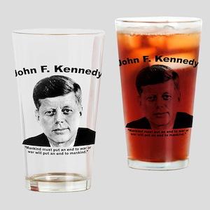 JFK War Drinking Glass