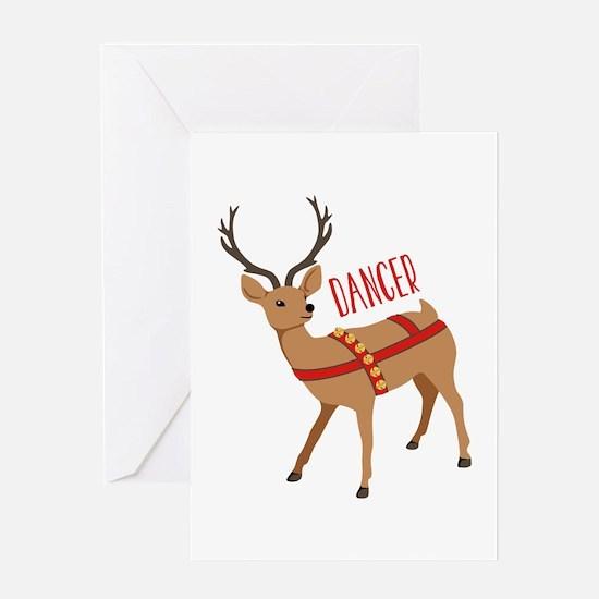 Reindeer Christmas Dancer Greeting Cards