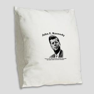 JFK Revolution Burlap Throw Pillow