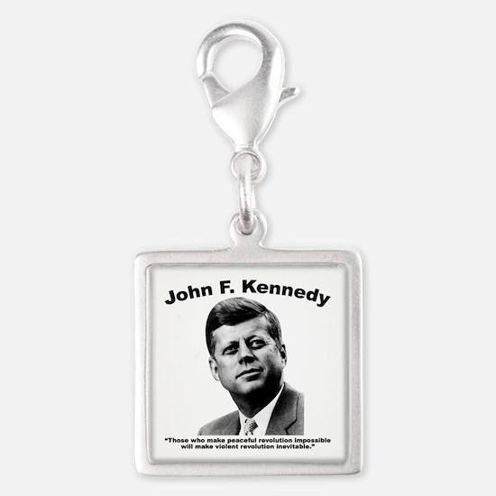 JFK Revolution Silver Square Charm